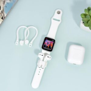 2 in 1 Earloops and wrist fit for Apple AirPods & iWatch - Earhooks - White