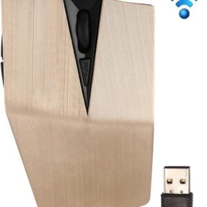 2.4GHz USB receiver adjustable 1200 DPI cordless optical mouse for computer PC laptop (gold)