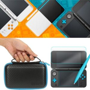3-in-1 Screen Protector Hard Cover Storage Case Carrying Bag For The Nintendo 2DS XL - Travel Carry Case