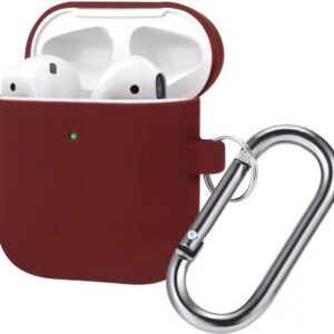 AirPods Case - Silicone Case - Airpods 1/2 Sleeve - Bordeaux - Burgundy