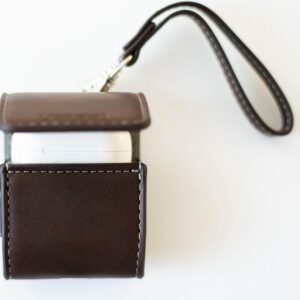 AirPods case brown luxury leather look - case