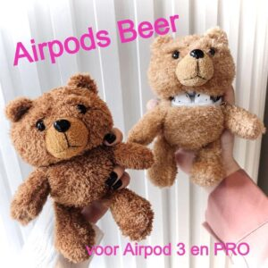 Airpods Case 3 and PRO Light BEAR - Cover Air Pods - Airpods Wireless Earphones Case - Accessory Earphone Bear - Fashion Fashion Plush Bo BEAR lt.bruin case