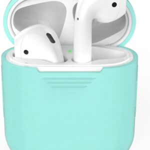 Airpods Silicone Case Cover Case for Apple Airpods - Cyan Turquoise Blue Light