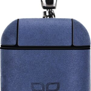 Bouletta - leather case Airpod (Apple AirPods 1 and 2) - Blue Antic