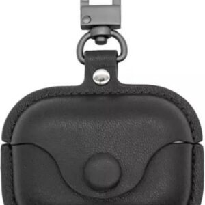 Cover - Case - leather - black - for Apple Pro Airpods