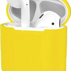Cover for Apple AirPods Case Cover Ultra Thin Silicone Case - Yellow