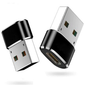 """DrPhone C2 - USB-C to USB Male Adapter â € """"Mini (Type C) to USB A Male (Type-A) â €"""" Sync converter OTG Adapter for Laptop / Wall Car Charger with USB A interface â € """"Black"""