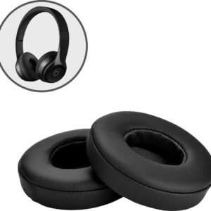 Ear pads for Beats By Dr. Dre Solo 2.0 / 3.0 Wireless - Headset ear cushions for Beats Solo Black