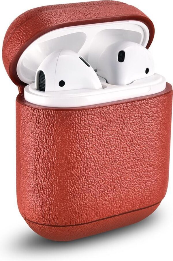 Icarer - Nappa Case for Apple AirPods - Red
