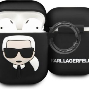 KARL LAGERFELD Silicone Cover Case Airpod - Black