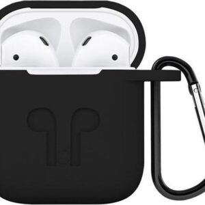 KELERINO. Silicone Case for Apple Airpods 1 & 2-3 in first set - Black