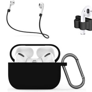 MMOBIEL Silicone Case Compatible with AirPods Pro (B) of 4 in 1 Set