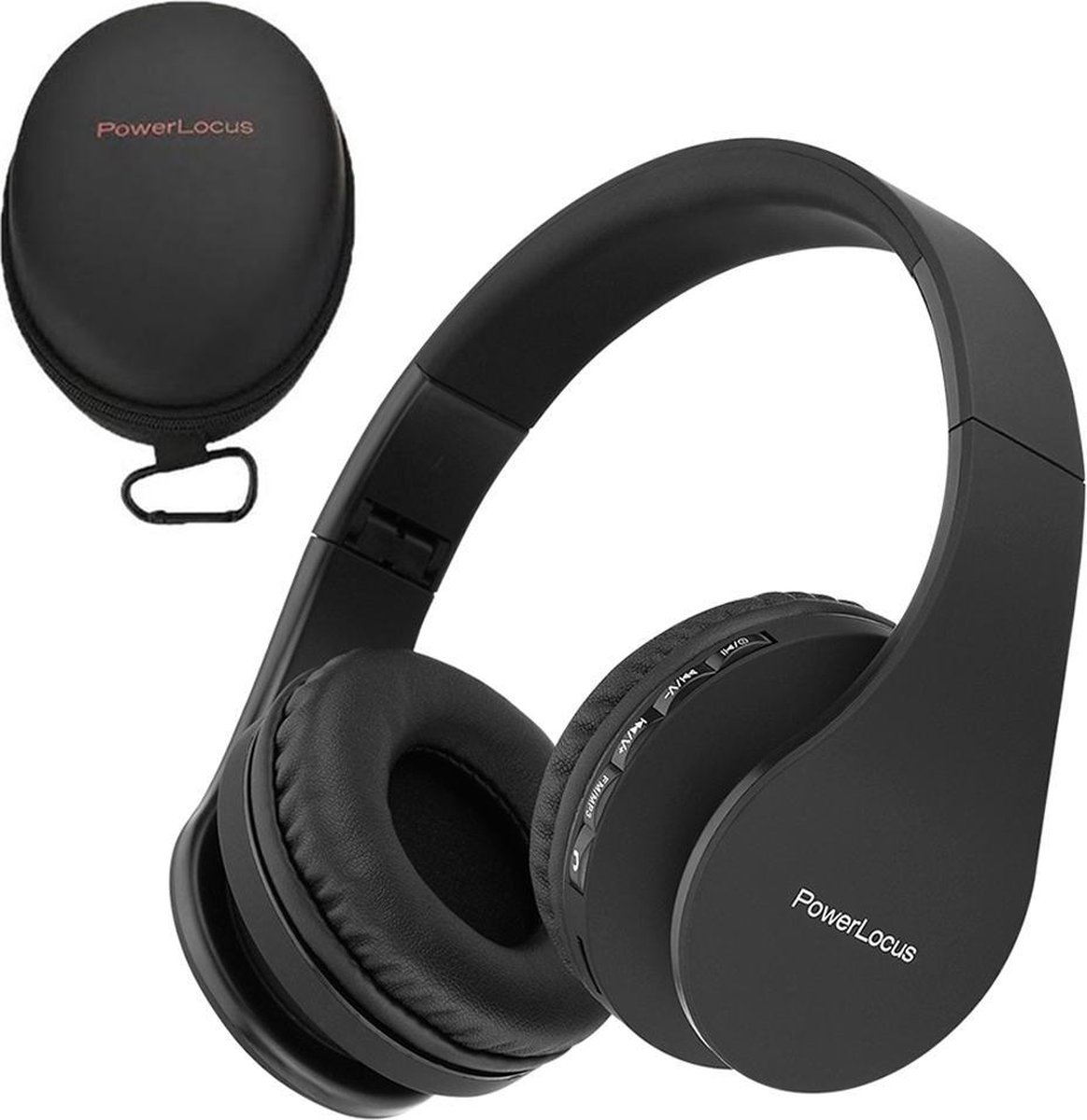 Power Locus P1 Wireless Over-Ear Headphones Foldable - Bluetooth - With  microphone - black