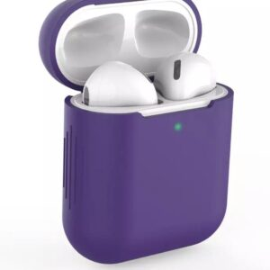 Protective Case Cover Case for Apple AirPods (Silicone) - Purple