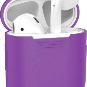 Silicone Protective Case Cover Case for Apple AirPods 1 Case - Purple