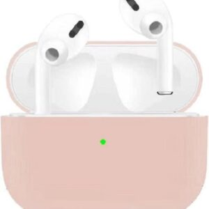 Soft pink / rose Airpods pro Silicone Case for Apple - earpods - Wireless Earphones Case Airpods pro Case - Airpods Case - Apple Case - Apple Case Airpods pro