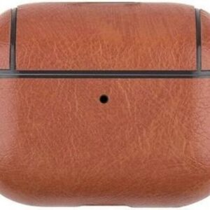 Tele Plus Apple Airpods Pro Leather Cover Silicone Case with Hook Brown Case